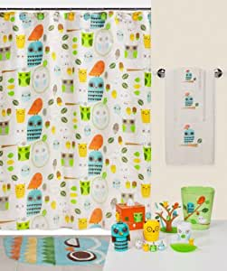 Give A Hoot - 24 Piece Complete Bathroom Set - Retro Owl Design