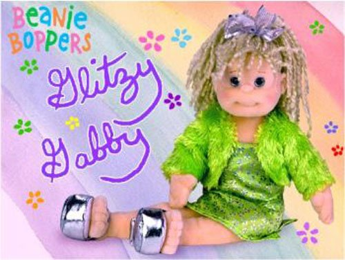 Ty 2002 Beanie Boppers Glitzy Gabby 12 Doll, Birthday Mar 21, Pasadena, Calif