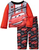 Komar Kids Baby-Boys Infant Cars Poly 2 Piece Pajama Set, Red, 18 Months