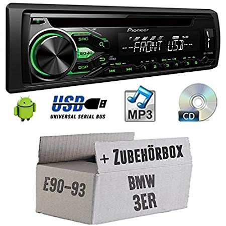 BMW 3 E9 x - Pioneer deh1800ubg - Kit de montage autoradio CD/MP3/USB -