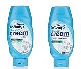 2 x Astonish Household Bathroom Bleach Cream Cleaner 550ml