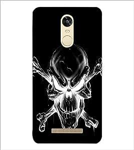 PrintDhaba Skull D-2343 Back Case Cover for XIAOMI REDMI NOTE 3 (Multi-Coloured)