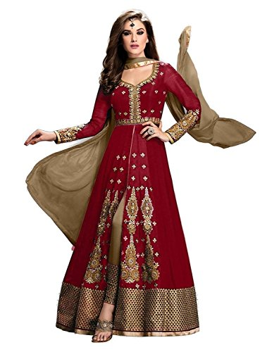 Maxthon-Fashion-Womens-Red-Georgette-Embroidery-Unstitched-Free-Size-XXL-Salwar-Suit-Dress-Material-Womens-Indian-Clothing-2239