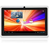 """Ouku® 7"""" Android 4.4 A23 Dual Core WiFi Tablet PC 3D Game 512MB+4GB Capative 5-POINT TFT Touch Screen 1.2GHz TXT Ebook (white)"""