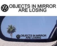 (2) Mirror Decals for VW PHAETON JETTA TDI ROUTAN KARMANN GHIA TOUAREG PASSAT GTI TURBO VR6 GOLF TEIN BEETLE GLS Volkswagen Rabbit Eurovan Cabrio BUS VANAGON EOS THING TIGUAN EUROVAN BAJA BUG from vw