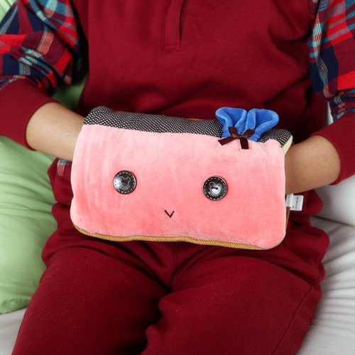 Zwzcyz Pink Rabbit Body Hand Warmer Hot Water Bottle Electric Heat Warming Bag Cover Christmas Gift (No Water Injection)