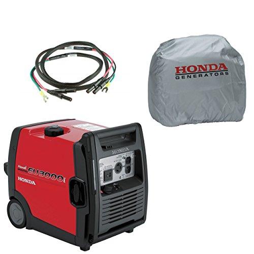 Honda EU3000I Handi 3000W 120V Inverter Gas Generator, Parallel Cord, Cover (Honda Gas Generator compare prices)