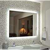 "Mirrors and Marble MAM94836 Commercial Grade 48""w x36""t Side Lighted LED Bath Vanity Mirror"