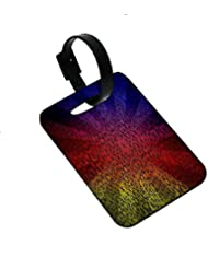 Snoogg Abstract Sun Rays Designer Luggage Tags Premium Quality Card Tags - Great For Travel