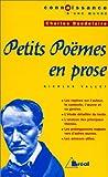 Petits Poèmes en prose, de Baudelaire