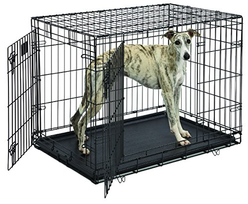MidWest Life Stages Folding Metal Dog Crate (Double Door Dog Crate 24 compare prices)