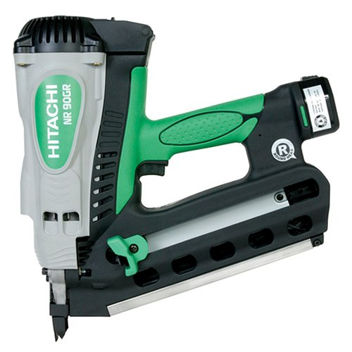 Hitachi NR90GR Round Head 2-inch to 3-1/2-inch Cordless Gas Framing Nailer
