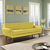 LexMod Engage Upholstered Sofa, Sunny