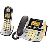 UNIDEN D2998 DECT 6.0 LOUD & CLEAR BIG BUTTON CORDED/CORDLESS PHONE WITH CALLER ID & DIGITAL ANSWERING MACHINE ~ Uniden