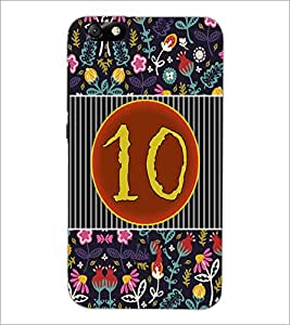 PrintDhaba Numerology Number 10 D-3097 Back Case Cover for HUAWEI HONOR 4X (Multi-Coloured)