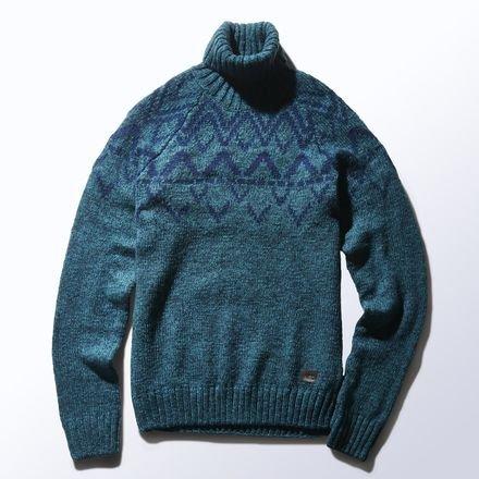 Adidas Neo nordico maglione lavorato a maglia grossa invernale da uomo maglia taglia XS-2x l, Uomo, Rich Green / Collegiate Navy, M