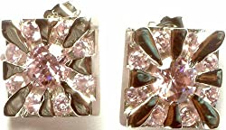 Exotic India Faceted Cubic Zirconia Earrings - Sterling Silver