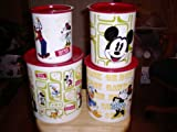 Tupperware Disney Vintage Canister Set of 4 One Touch