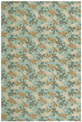 Meadow Sky Blue Contemporary Rug Size: 3'9&quot; x 5'9&quot; Rectangle