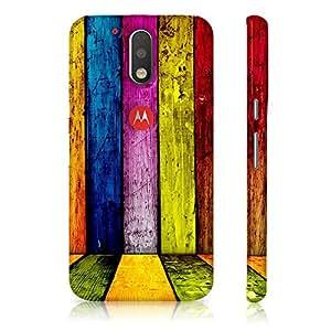 Motorola Moto G4 Plus 4th Generation Colored Wall Pattern Printed Designer Mobile Phone Case Back Cover by Be Awara - Matte Finish