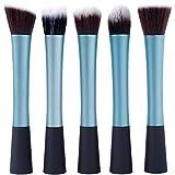 Dragonpad 5 Pcs Real Techniques Foundation Makeup Brush Sets (Blue)