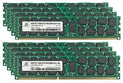 Adamanta 64GB (8x8GB) Server Memory Upgrade for Dell PowerEdge T620 DDR3 1333MHz PC3-10600 ECC Registered 2Rx4 CL9 1.35v 36 IC