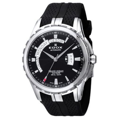 [エドックス]EDOX 腕時計 グランドオーシャン ブラック文字盤 自動巻 ラバーベルト 83006-3-NIN メンズ 【並行輸入品】