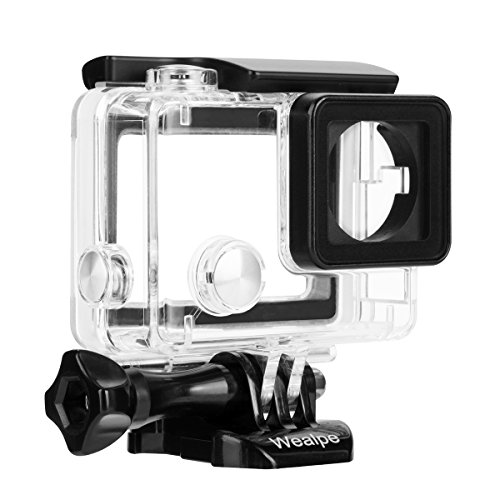 Wealpe-Open-Side-Skeleton-Housing-with-LCD-Touch-Backdoor-for-GoPro-Hero-4-Silver