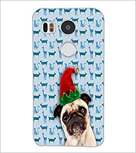 PrintDhaba Funny Dog D-3507 Back Case Cover for LG NEXUS 5X (Multi-Coloured)