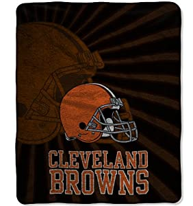 NFL Cleveland Browns Strobe Sherpa Throw Blanket, 50x60-Inch by Northwest