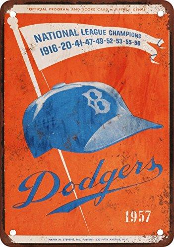 1957-brooklyn-dodgers-ultimo-gioco-in-brooklyn-look-vintage-riproduzione-in-metallo-tin-sign-305-x-4