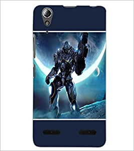 PrintDhaba Transformer D-1278 Back Case Cover for LENOVO A6000 PLUS (Multi-Coloured)