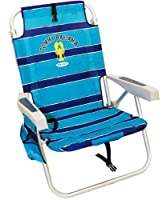 Tommy Bahama Relax Backpack Cooler Chair with Folding Towel Bar and Padded Shoulder Straps - Blue from Tommy Bahama