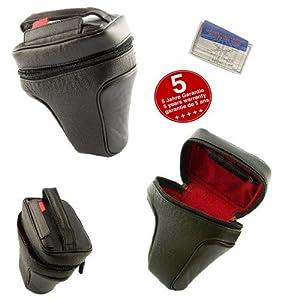 Housse de cuir Nappa pour Nikon D5000, avec Objectif Standard