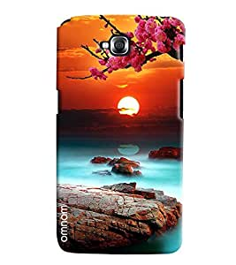 Omnam Beautiful Scenery With Sun And Flowers Printed Designer Back Cover Case For LG G Pro Lite