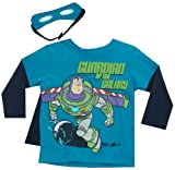 DISNEY Toy Story Buzz Lightyear Long Sleeve Tee, Cape and Eye Mask