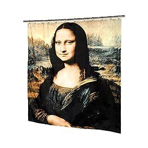 Mona lisa fabric shower curtain by leonardo da vinci at amazon for Mona lisa shower curtain