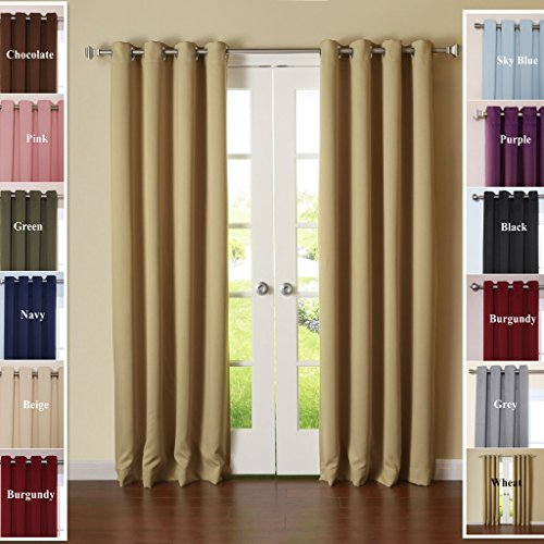 TWOPAGES® Solid Anti Bronze Grommet Triple Weaved Polyester Curtains Drapes  ( 1 Panel )