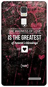The Racoon Lean Madness of Love hard plastic printed back case/cover for Oppo R7 Plus