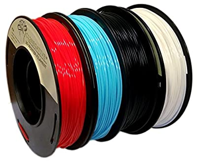 PLA 1.75mm 4x250g Blue/Red/Yellow/Green - Filament Set for 3D Printer - FrontierFila