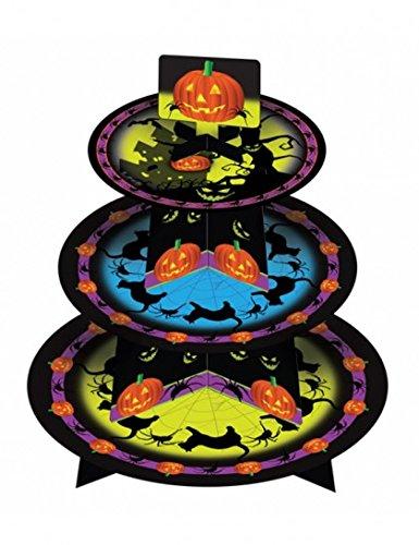 Présentoir à gâteaux Halloween - Citrouilles - en carton