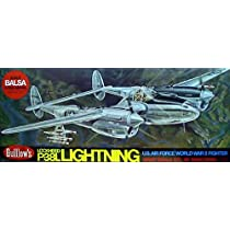 P-38L Lightning Balsa Model Airplane Guillows