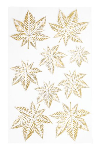 CREApop® HOBBY-Design Stickers Blätter I gold