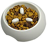 Slow Down! Small Dog Feeding Bowl Slow Feed Pet Bowl. Train Your Puppies to Eat Slower, Better Eating Habit & Easy to Clean!