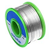 Sywon 1.0mm 100g Lead Free Solder Wire Tin Reel with Rosin Core, Sn 99% Ag 0.3% Cu 0.7%
