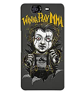 TOUCHNER (TN) Scarry Toy Back Case Cover for Micromax Canvas Knight A350