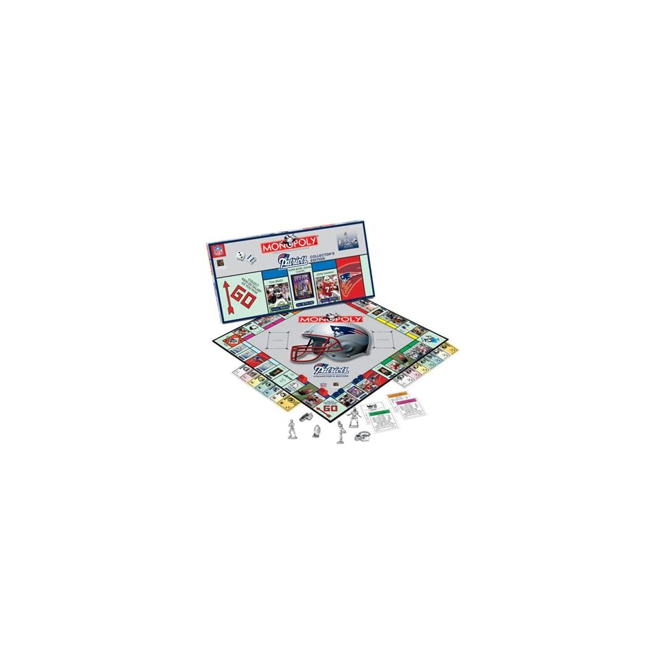 NEW ENGLAND PATRIOTS Team Logo Collectors Edition MONOPOLY (Includes six collectible pewter tokens).