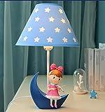 Mond kleine Tischlampe Schlafzimmer Nachttischlampe Kinderzimmer Schreibtischlampe Warm Kreative Kinder-nette Mädchen-Geburtstags-Geschenk ( stil : B )