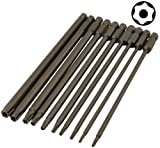 Tamper Proof Star Torx Bit Set T6 to T40 6 Long 10-pcs