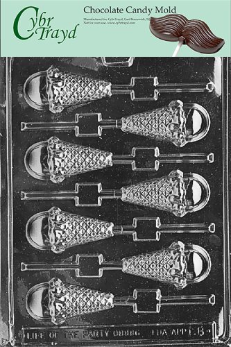 Cybrtrayd K008 Ice Cream Cone Lolly Chocolate Candy Mold with Exclusive Cybrtrayd Copyrighted Chocolate Molding Instructions (Ice Cream Cone Mold compare prices)